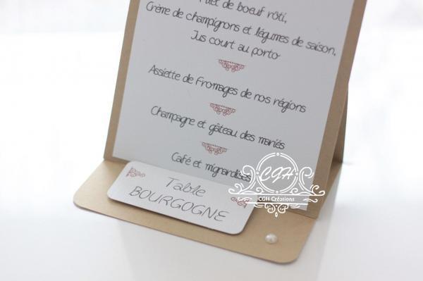 Cgh menu marquetable