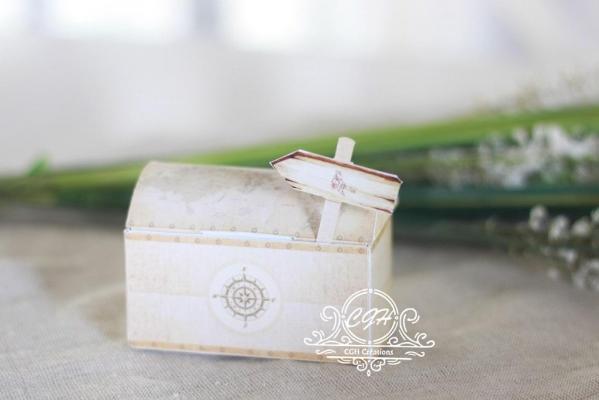 Cgh papeterie fine contenant dragees malle de voyage mappemonde mpf 5 min