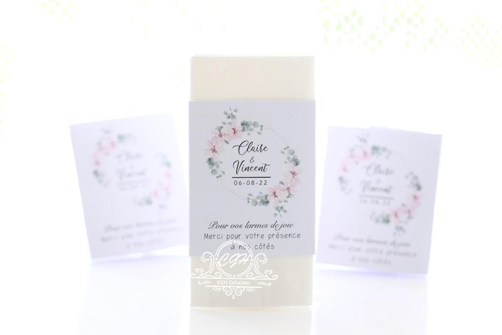 Cgh papeterie fine etuis mouchoirs blanc fleuri 1 min