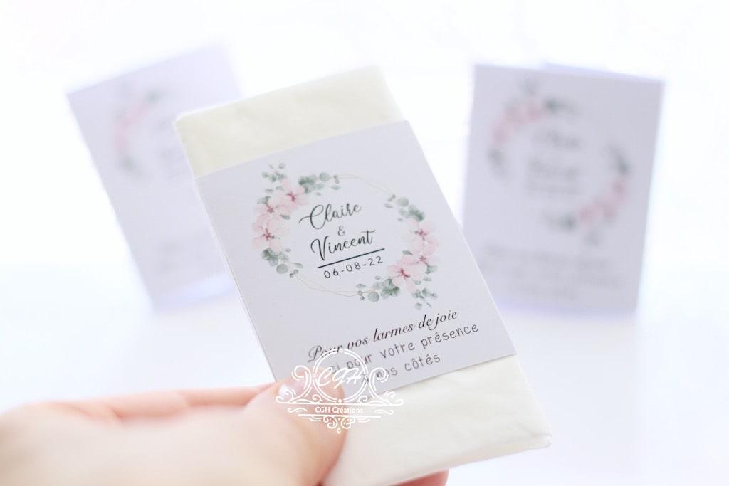 Cgh papeterie fine etuis mouchoirs blanc fleuri 2 min