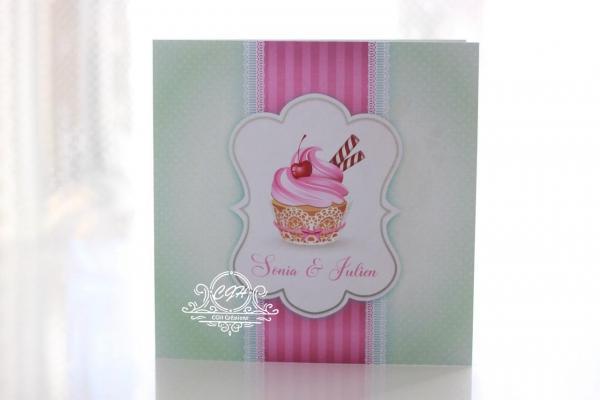Cgh papeterie fine faire part mariage classique cupcake soniajulien10 min