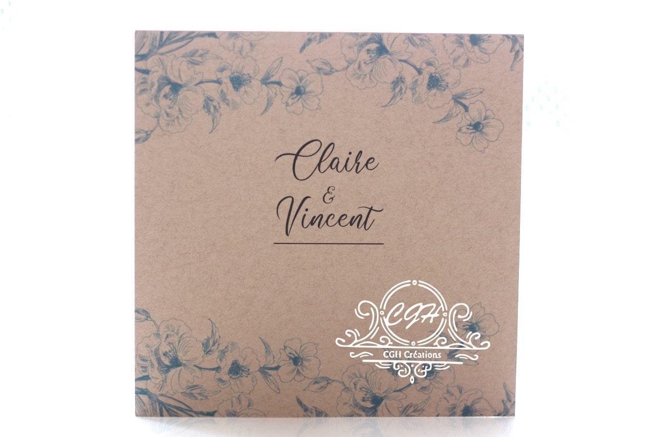 Cgh papeterie fine faire part mariage classique fleurs bleues 1 min