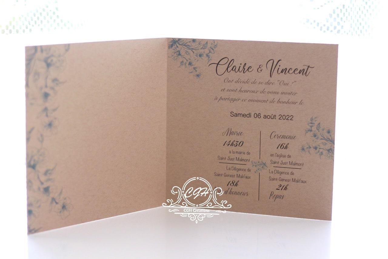Cgh papeterie fine faire part mariage classique fleurs bleues 2 min