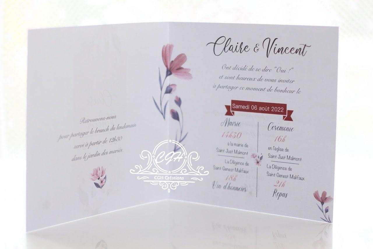 Cgh papeterie fine faire part mariage classique floral a1 min