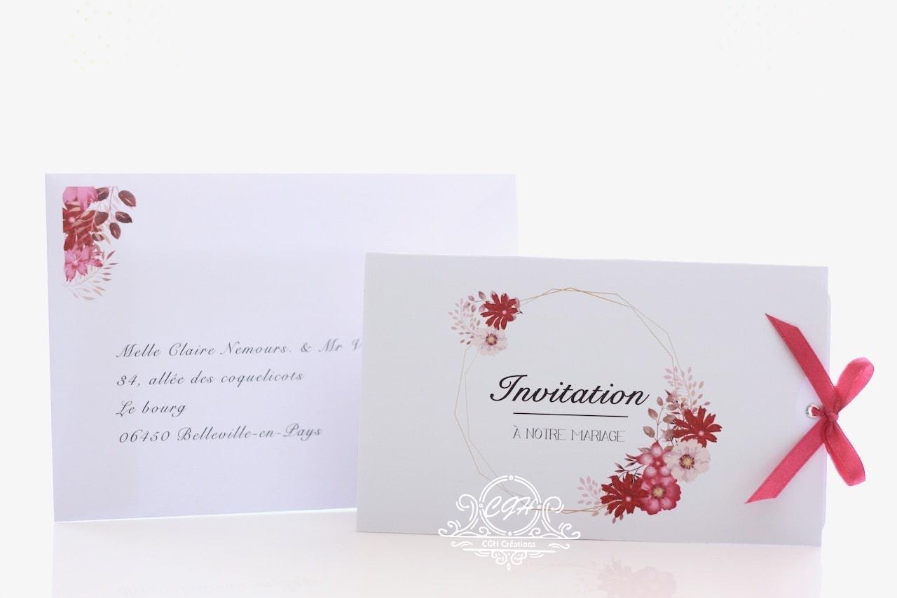 Cgh papeterie fine faire part mariage duo imprim floral 3 min