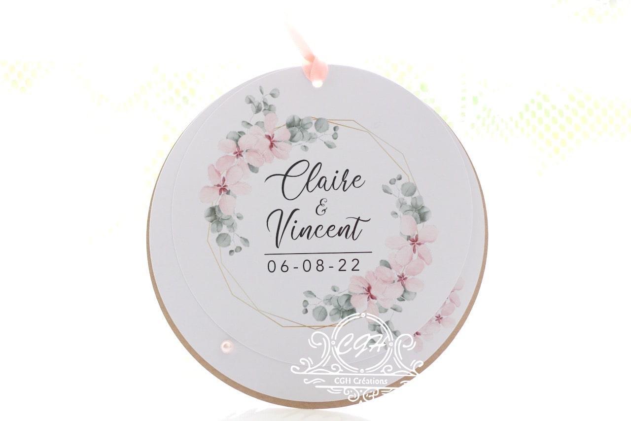 Cgh papeterie fine faire part mariage ronds couronne fleurs pe ches 1 min