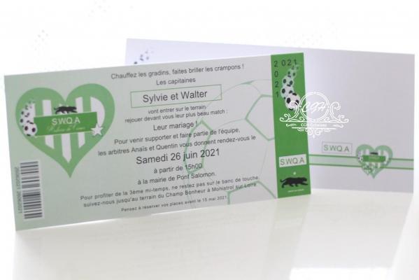 Cgh papeterie fine fairepart mariage theme foot vert 4 min