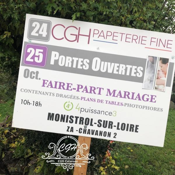 Cgh papeterie fine panneaux portes ouvertes octobre 2020 faire part mariages min